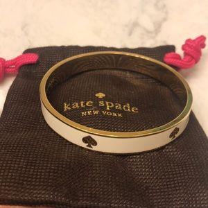 White/Gold Kate Spade Bangle